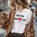 Camiseta MON AMOUR mujer