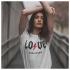 ICONETA | Camiseta LOVE ROCK MUSIC mujer
