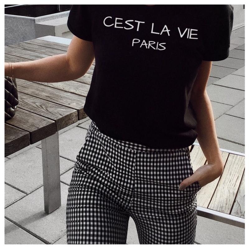 ICONETA | Camiseta CEST LA VIE PARIS mujer