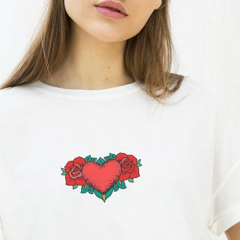ICONETA | Camiseta HEART OF ROSES mujer