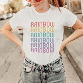 Camiseta RAINBOW mujer