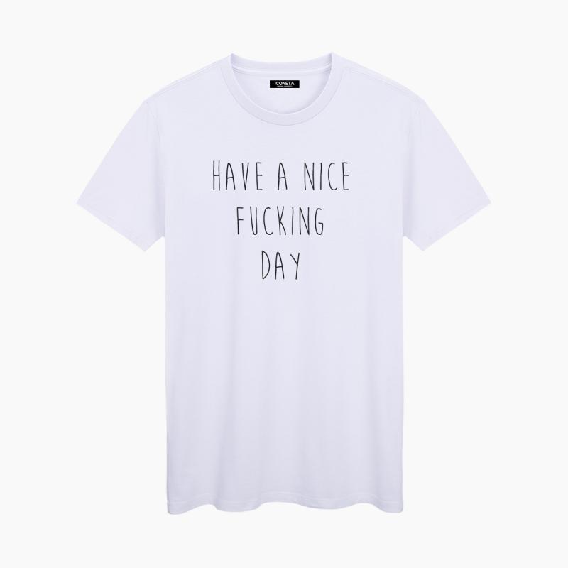 ICONETA | Camiseta HAVE A NICE FUCKING DAY mujer