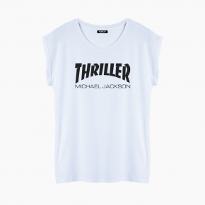 Camiseta THRILLER relaxed fit mujer