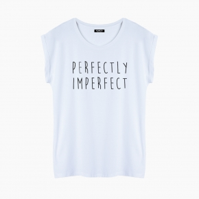 Camiseta PERFECTLY IMPERFECT relaxed fit mujer
