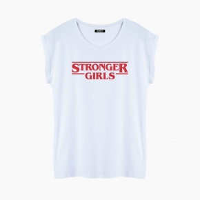 Camiseta STRONGER GIRLS relaxed fit mujer