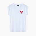 Camiseta ROCKER HEART relaxed fit mujer