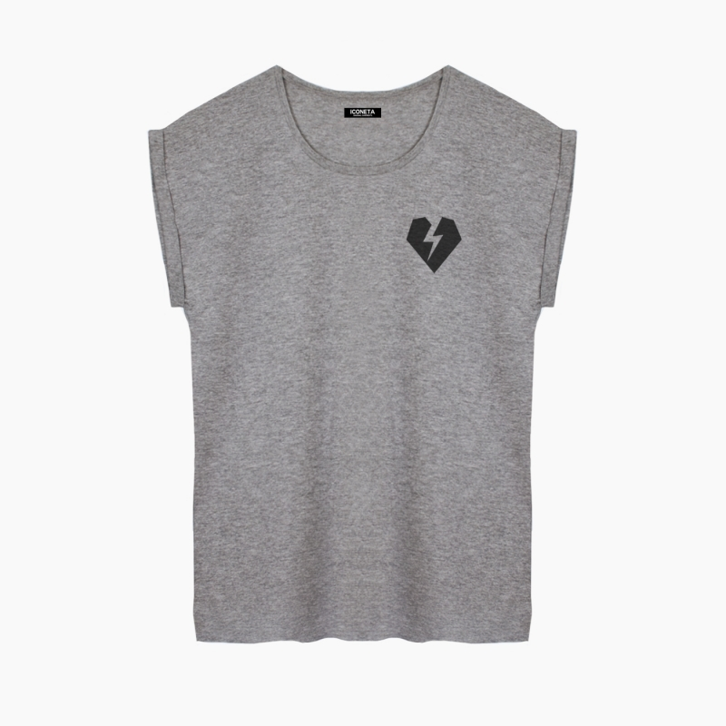 ICONETA | Camiseta ROCKER HEARTP fit mujer