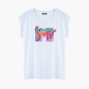 Camiseta MTV 80`S relaxed fit mujer