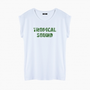 Camiseta TROPICAL SOUND relaxed fit mujer