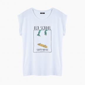 Camiseta OLD SCHOOL relaxed fit mujer