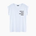 Camiseta FROM ANOTHER POINT relaxed fit mujer