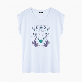 LOVE TIGERS T-Shirt relaxed fit woman