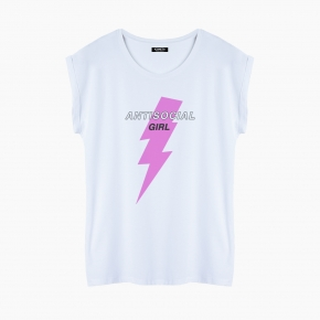 ANTISOCIAL GIRL T-Shirt relaxed fit woman