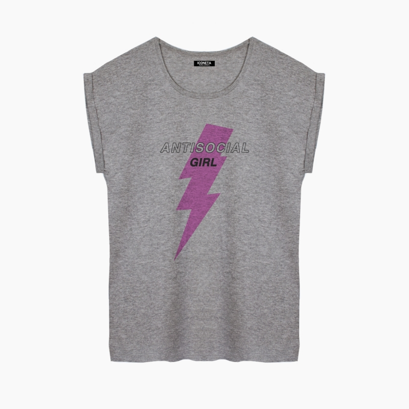 Camiseta ANTISOCIAL GIRL relaxed fit mujer