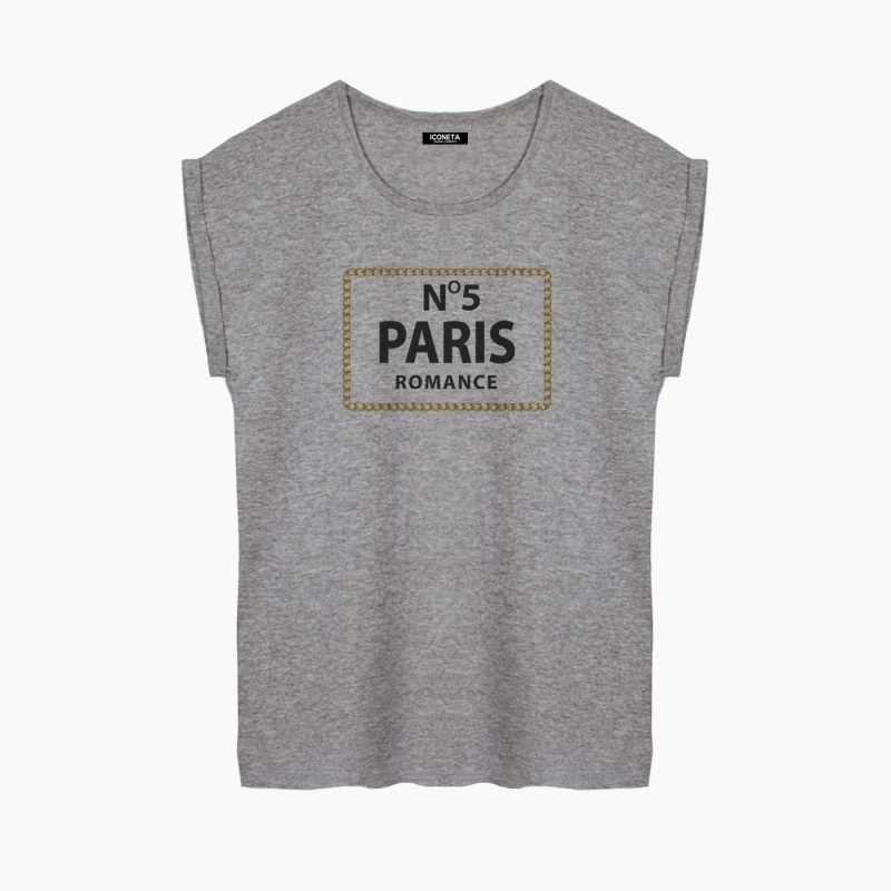 Camiseta Nº 5 PARIS relaxed fit mujer
