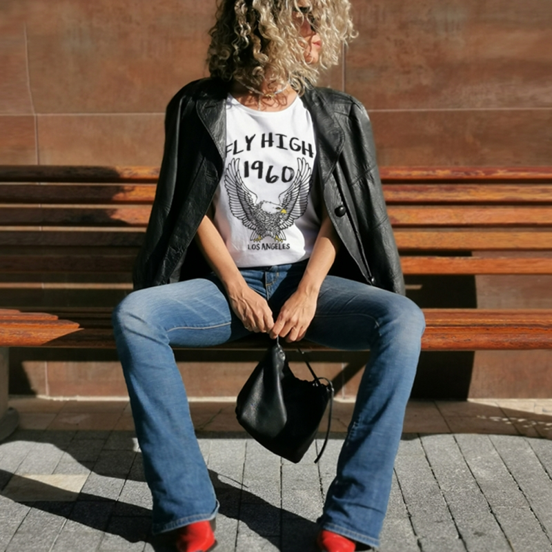 Camiseta FLY HIGH relaxed fit mujer