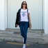 Camiseta LOS ANGELES 1984 relaxed fit mujer