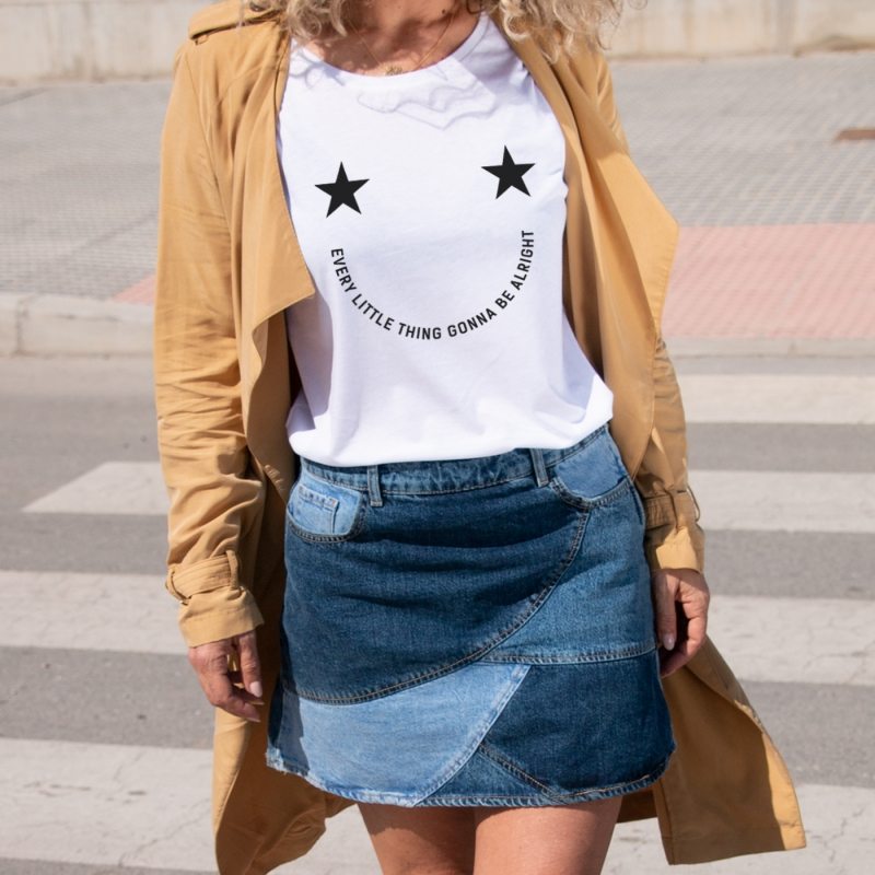 Camiseta SMILING relaxed fit mujer