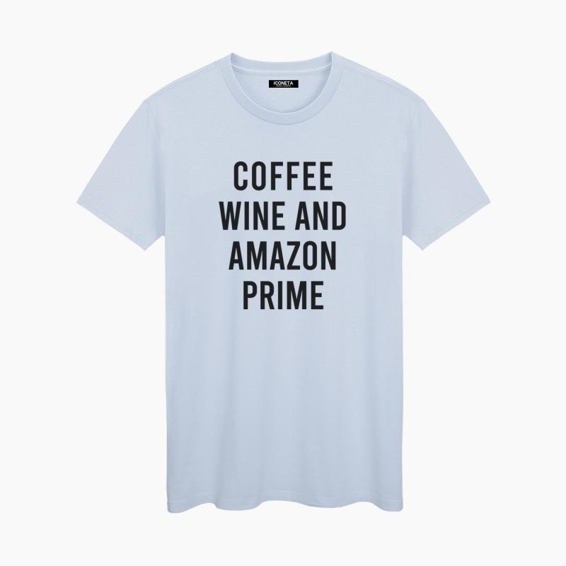 Camiseta COFFE & WINE unisex