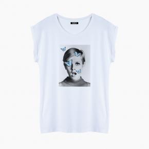 BUTTERFLIES T-Shirt relaxed fit woman